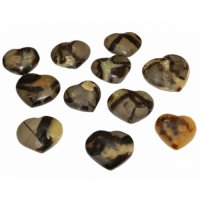 Septarian Polished Crystal Heart - Medium size