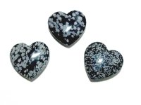 Snowflake Obsidian Polished Gemstone Crystal Heart - Large