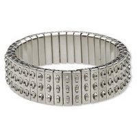 Stainless Steel Bracelet for charms and beads - triple row