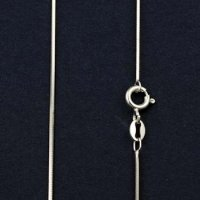 "18"" Sterling Silver Square Snake Chain"