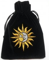 Sun and Moon Embroidered Luxury Pouch