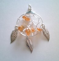 Sunstone Dreamcatcher Pendant