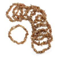 Sunstone Gemstone Chip Bracelet