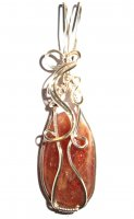Sunstone Wire Wrap Pendant