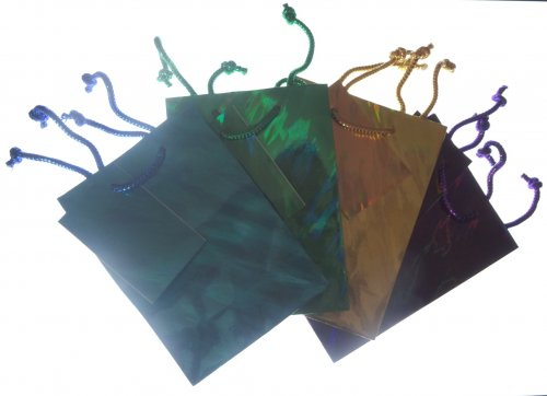 Holographic Gift Bag 16.5cm by 12cm