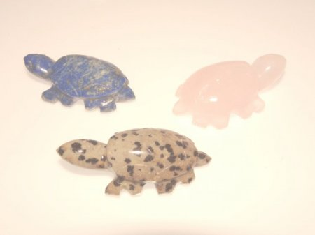 Turtle Gemstone Carving - various available