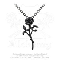 The Romance Of Black Rose Pendant