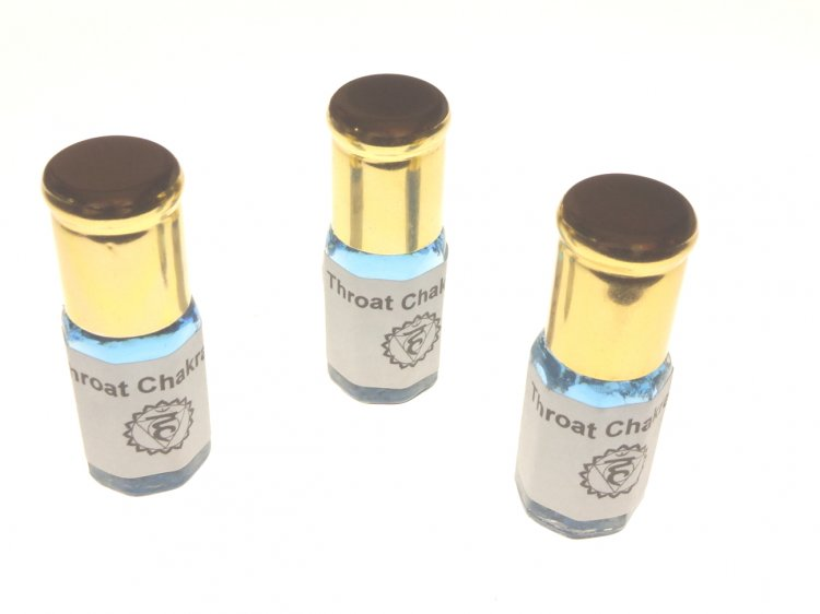 Chakra Roll On Glass Bottle Oil - Throat