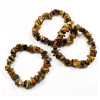Tiger Eye Large Smooth Premium Chip Bracelet