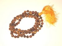 Tiger Eye Gemstone Mala Prayer 8mm Beads - 108 - with Pouch