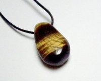 Tiger Eye Tumblestone Polished Gemstone Pendant
