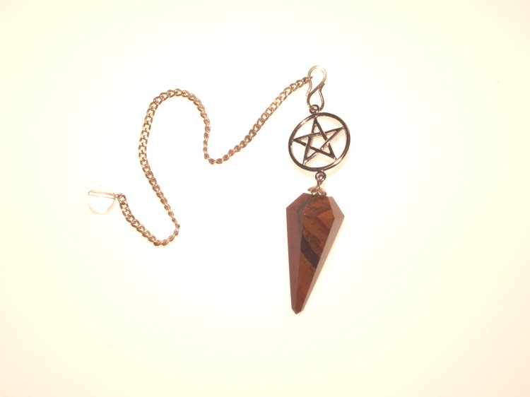 Tiger Iron Pentacle Pendulum Crystal