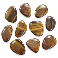 Tiger Iron Smooth Stone / Worry Stone