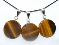 Tigers Eye Circle Pendant
