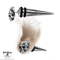 Tomb Skull Spike Faux Ear Stretcher Stud
