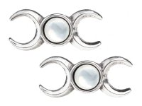 Triple Goddess Mother of Pearl Studs