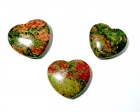 Unakite Large Sleek Gemstone Heart