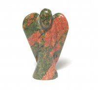 Unakite Gemstone 50mm Angel Carving