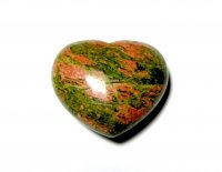 Unakite Large Heart Gemstone Carving