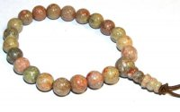 Unakite Gemstone Crystal Gemstone Power Bracelet