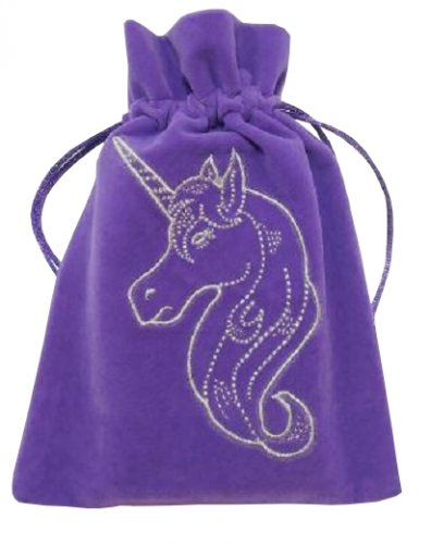 Unicorn Embroidered Luxury Pouch