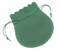Velvet Drawstring Pouches - Green