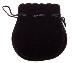 Velvet Drawstring Pouches - Black