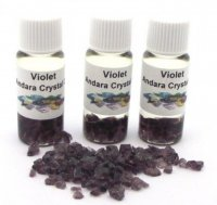 Violet Andara Gemstone Infused Oil with COA