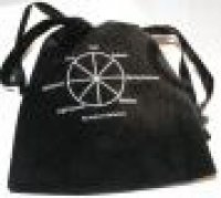 Wheel Of The Year Velvet Bag Crystals Wicca