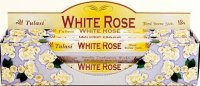 White Rose Incense - Full Box of 120 Sticks - TULASI