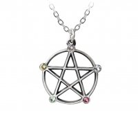 Wiccan Five Elements Pentacle Pendant