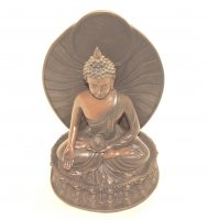 Wood Effect Buddha Statue