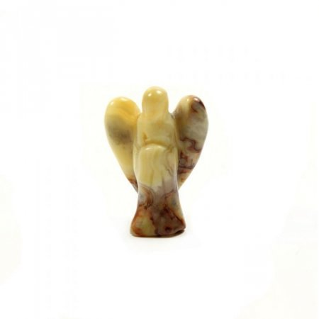 Yellow Crazy Lace Jasper Mini Pocket Guardian Gemstone Angel