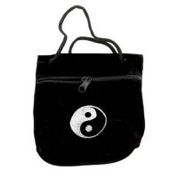 Ying and Yang Zip Velvet Carry Pouch
