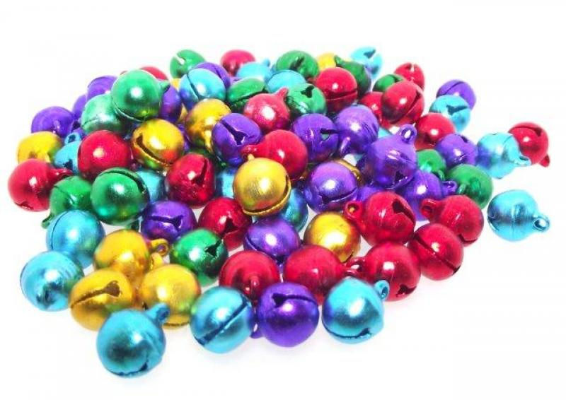 10mm Colourful Aluminium Jingle Bells Pack of 100