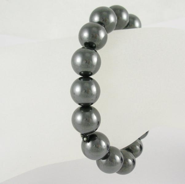 Large Magnetic Hematite Power Bracelet - 12mm