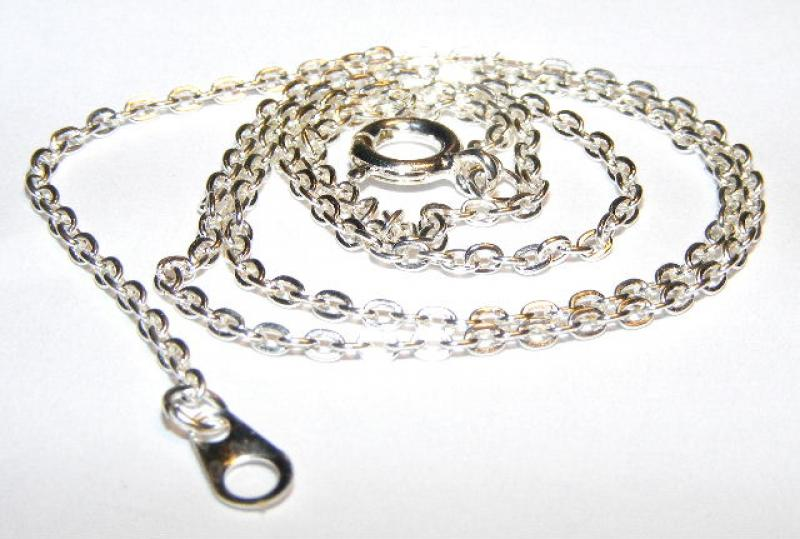 "18"" Silver Plated Trace Chain"
