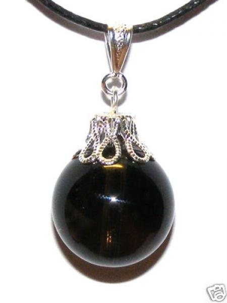 Smokey Quartz 16mm Sphere Pendant