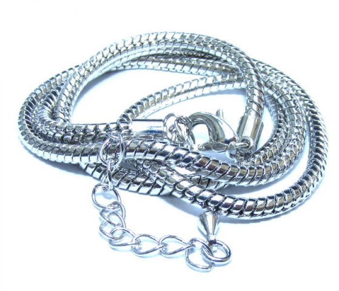 18 Snake Chain Anti Tarnish Electroplated 3Mm Thick