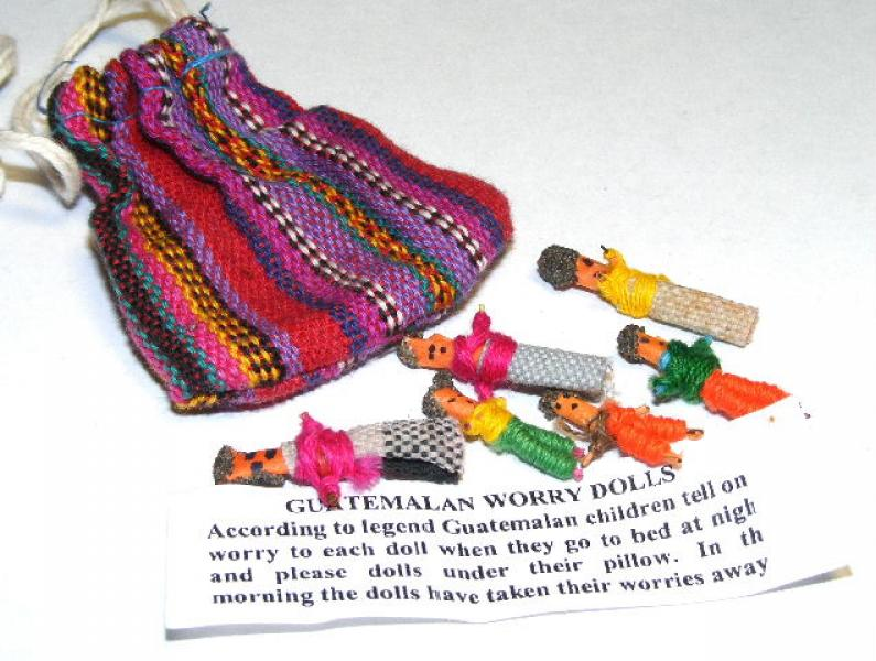 Set Of Guatemalan Worry Dolls In Pouch