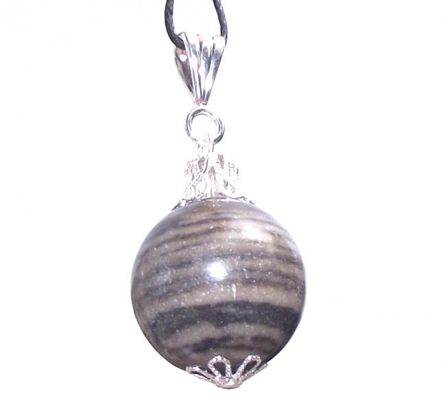 Fossilised Wood 20mm Sphere Pendant