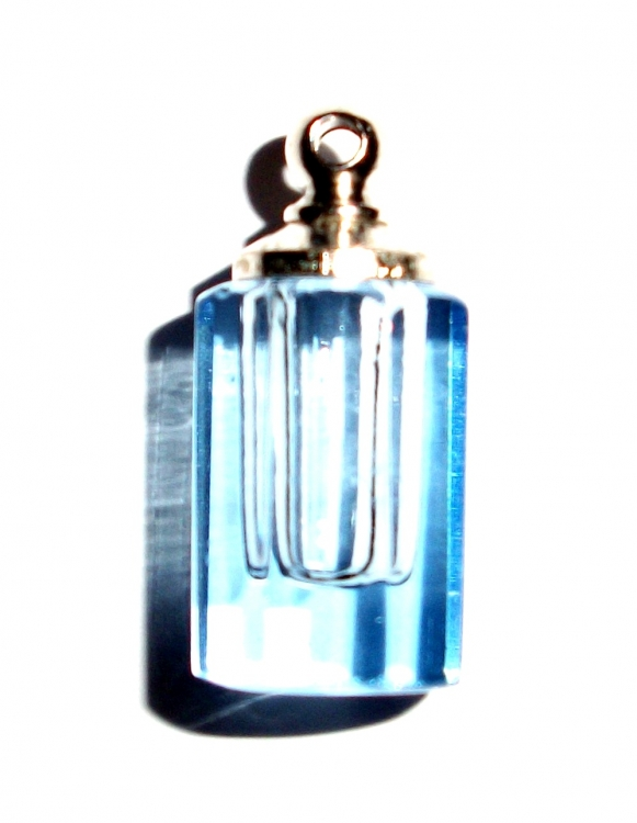 Facetted Crystal Vial Bottle Pendant
