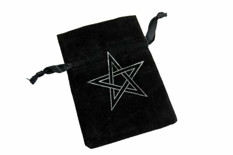Velvet Pentagram Pouch / Crystals / Bag