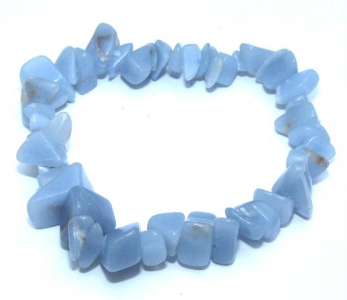 Angelite Gemstone Chip Bracelet