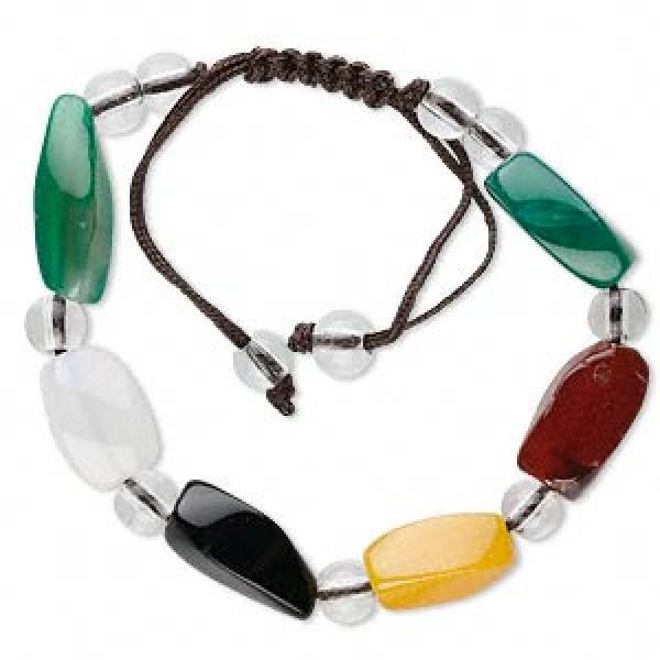 Assorted Gemstone Drawstring Bracelet