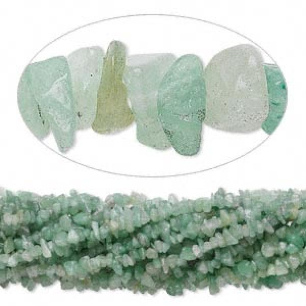 "Green Aventurine 36"" Gemstone Chip Necklace"