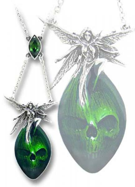 Absinthe Fairy Pewter Pendant Alchemy Gothic