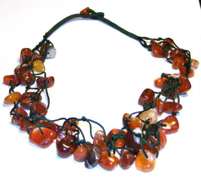 Agate Drawstring Necklace