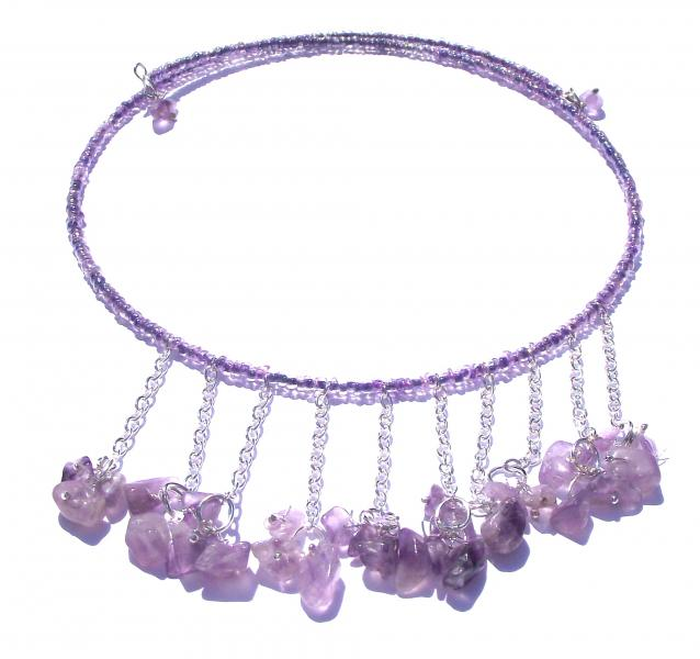 Amethyst Gemstone Choker Design Necklace