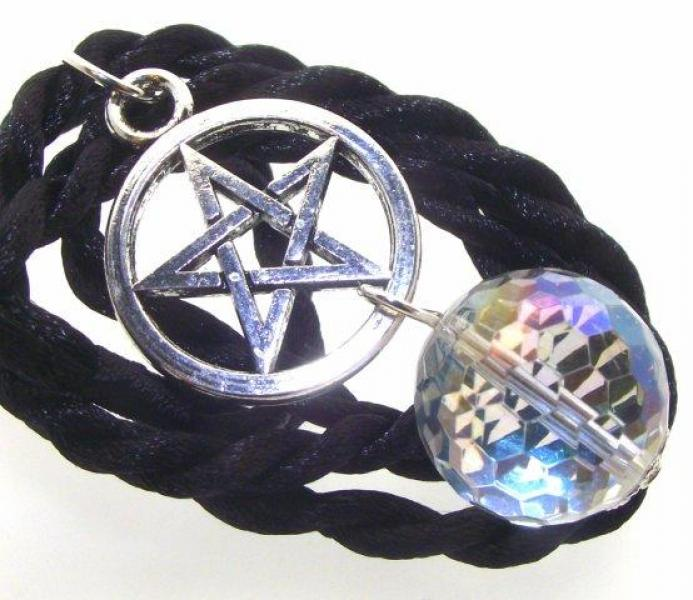 Angel Aura Quartz Pentacle Pendant